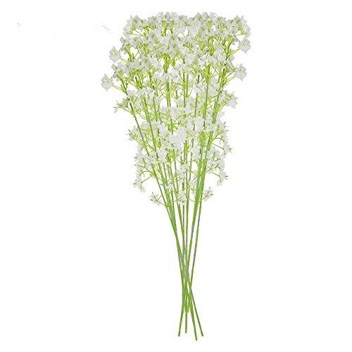 WZFlowers Flores 10 Piezas de Flor simulación Falsa y Artificial Propia Naturaleza paniculata Estrellada.