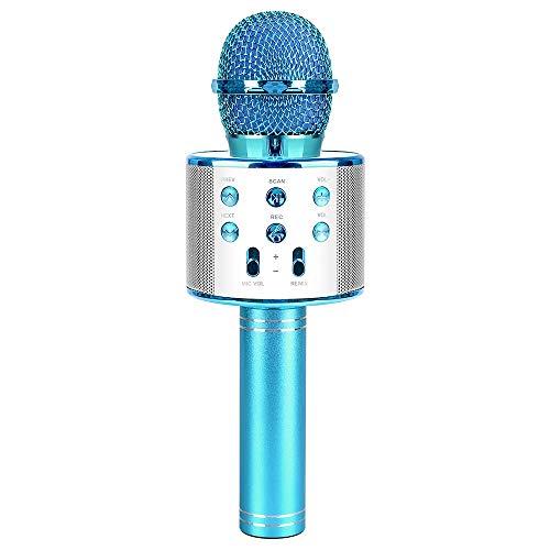 Microfono karaoke per bambini, giocattolo per microfono per ragazzo di 4-9 anni Microfono per ragazza Festa a casa Regalo per bambini di 5-10 anni Regalo di compleanno per ragazza Età 6 7 8 Ragazza
