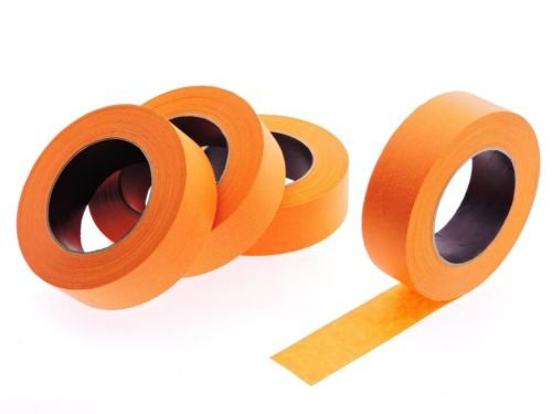 """4pk 1 1/2"""" x 60 yd Orange Painters Tape PROFESSIONAL Grade Masking Edge Trim Easy Removal (36MM 1.5 in)"""
