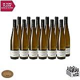 Alsace Gewurztaminer Blanc 2018 - Hubert Meyer - Vin AOC Blanc d' Alsace - Cépage Gewurztraminer - Lot de 12x75cl - Médaille d'Or Grand Concours des Vins d'Alsace - Colmar
