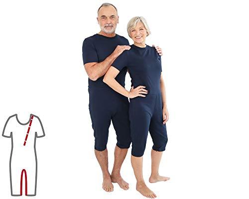 Pflegeoverall für Frauen und Männer; slim kurz mit Bein- und Rückenreißverschluss; Demenz Overall; ActivePro (M)