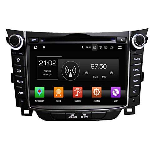 Android 8.0 Autoradio Coche para Hyundai Elantra GT/I30(2011-2018), 4 GB RAM 32 GB ROM, 7 Pulgadas Pantalla Táctil Reproductor de DVD Radio Bluetooth Navegación GPS
