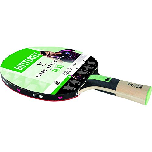 Butterfly Tiago Apolonoa TAX3 - Mazza da ping-pong approvata ITTF, 1,5 mm Pan Asia in gomma
