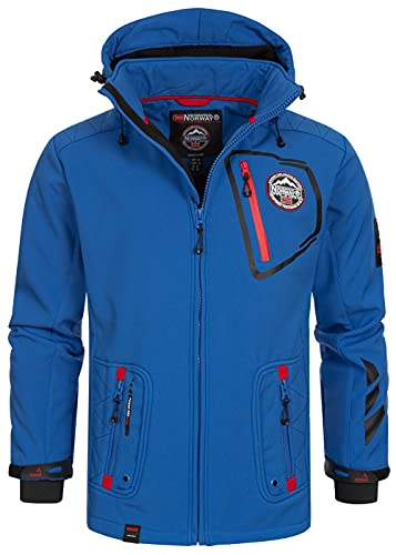 Geographical Norway Chaqueta multifunción softshell impermeable para hombre, Otoño/Invierno, Manga Larga, Mujer, color azul real, tamaño M