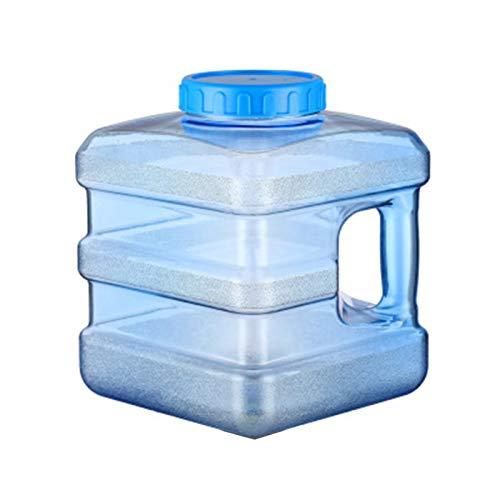 Bidón de agua con tapa, 5 L/7,5 L, portátil, dispensador de agua espesado, jarra de agua potable de policarbonato para vehículos, camping, picnic, al aire libre, barbacoa y viajes largos