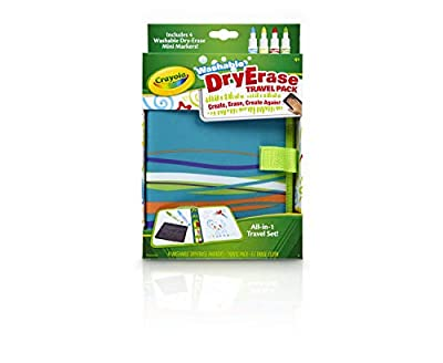 Crayola Washable Dry Erase Travel Pack, Whiteboard for Kids, Ages 4, 5, 6, 7 by Binney & Smith