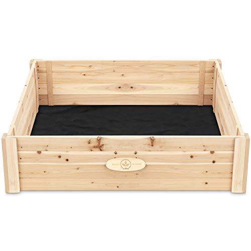 Cedar Raised Garden Bed Kit – Elevated Ground Planter for Growing Fruit/Vegetables/Herbs – (47 x...