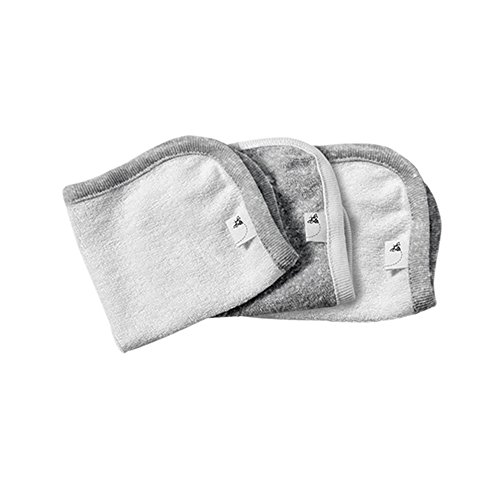 Price comparison product image Burt's Bees Baby - Set of 3 Washcloths,  100% Organic Cotton (Heather Grey)