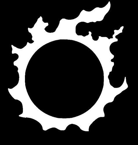 SUPERSTICKI® CCI152 - Final Fantasy Realm Reborn Icon White Vinyl Car/Laptop/Window/Wall Aufkleber Decal Hintergrund/Maße in inch 6 x 5