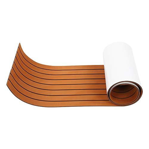 Alfombrilla para barco, espuma adhesiva EVA Alfombrilla para barco Alfombrilla antideslizante para yate marino marrón 240x45x0,6 cm