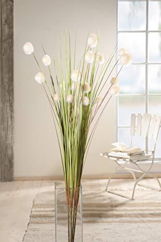 "4er Set Dekobündel""Blütenkugel"" 105 cm hoch, Kunstpflanze, Ziergras"