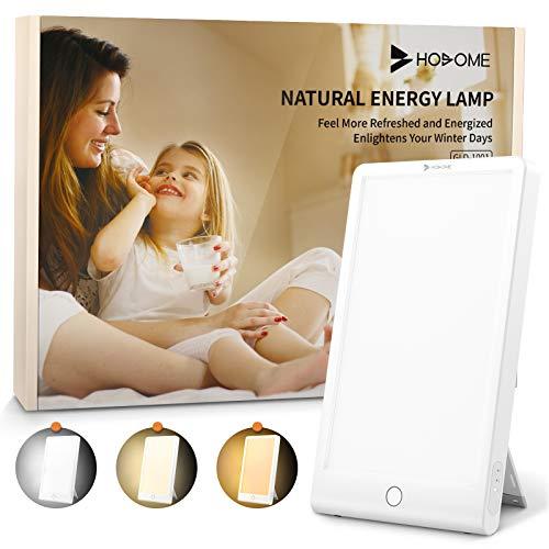 Hosome Tageslichtlampe 10000 lux, USB Type-C Tageslichtleuchte mit 3 Lichtfarben UV-Frei Vollspektrumlampe mit Stufenlosen Dimmen, 3 Countdown-Timer Einstellbar, LED Daylight Lamp, Touch Control