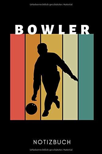 BOWLER NOTIZBUCH: A5 TAGEBUCH Geschenk für Bowlingspieler | Bowlingbuch | Kegeln | Bowling | Kegelspiel | Mannschaft | Bowlingfan | Bowler | Sport | Männer
