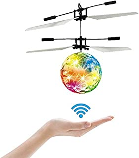 LSD Flying Ball Toys,UFO Toys-RC Flying Ball -- Kids Boy Toys Flying Toys Hand Controlled Drone LED Lighting, Kids Toys for Boys Girls Outdoor and Indoor Use