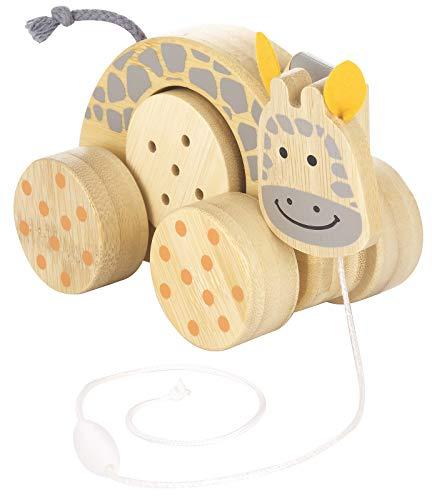 Kindsgut Ziehtier aus Holz für Babys und Klein-Kinder, Nachzieh-Tier ab 10 Monaten in schlichtem Design und dezenten Farben,, hochwertige Qualität, Giraffe