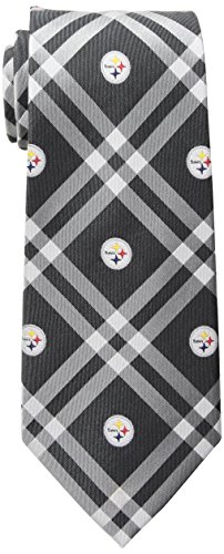 Eagles Wings NFL Pittsburgh Steelers Men's Woven Polyester Rhodes Necktie, One Size, Multicolor