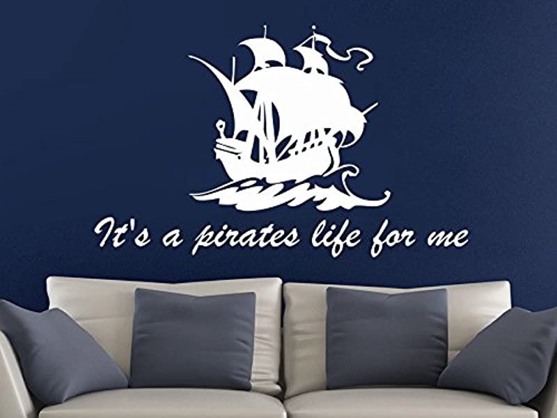 Ship Wall Decal Quotes It S A Pirates Life For Me Wall Decals Sea Vinyl Stickers Nursery Home Bedroom Decor C403