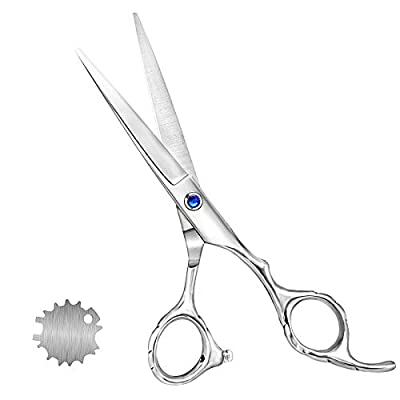 Hair Styling Scissors, 6.5 Inch Hair Trim Scissors, Haircut Hairdressing Scissors for Man and Woman for Salon, Barber and Home Use