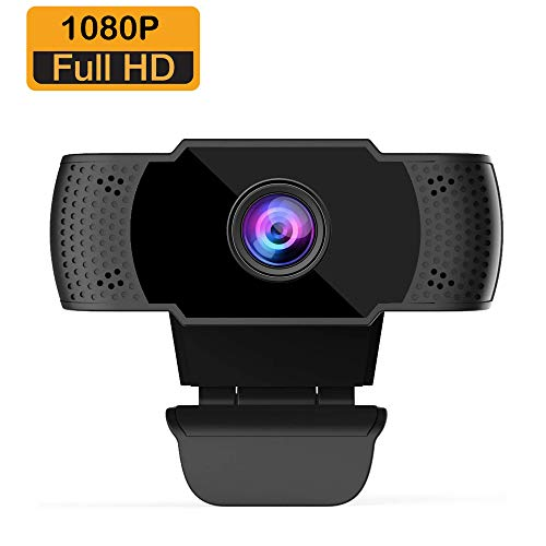 BOIFUN Webcam 1080P con Micrófono para PC, Full HD Cámara Web USB 2.0 para Videoconferencia, Estudios, Conferencias, Grabación, Juegos, Plug and Play, con Clip Giratorio [Gestionado por Amazon]