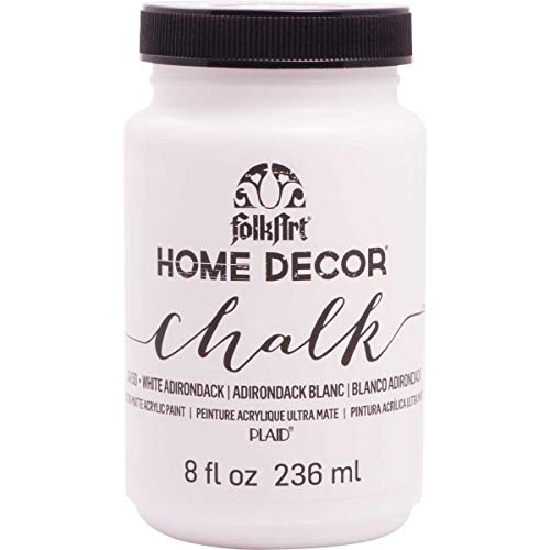 FolkArt Home Decor Chalk Furniture & Craft Paint in Assorted Colors, 8 ounce, White Adirondack