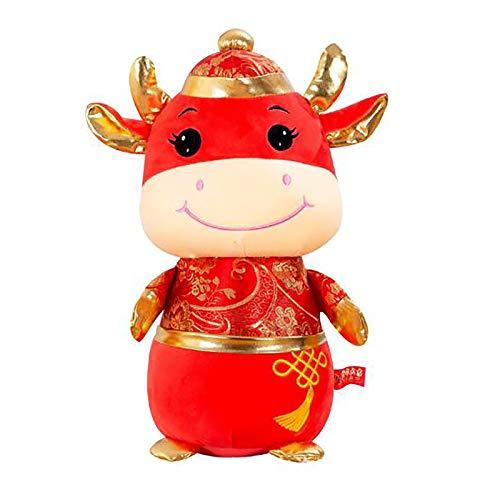 DQANIU exclusivo muñeco de vaca relleno de juguete para niños, muñeco de peluche animal suave y cómodo,Juguetes de cama para niños y bebés|Peluche de Peluche Seguro y no tóxico(Toro: 25 cm)
