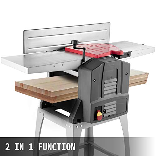 VEVOR Jointers Woodworking 8 Inch Benchtop Jointer 1500W Jointer Planer Heavy Duty 9000 RPM/min Benchtop Planer 6M/min 120 mm Cutting Thickness Wood Jointer Benchtop For Wood Cutting Planer
