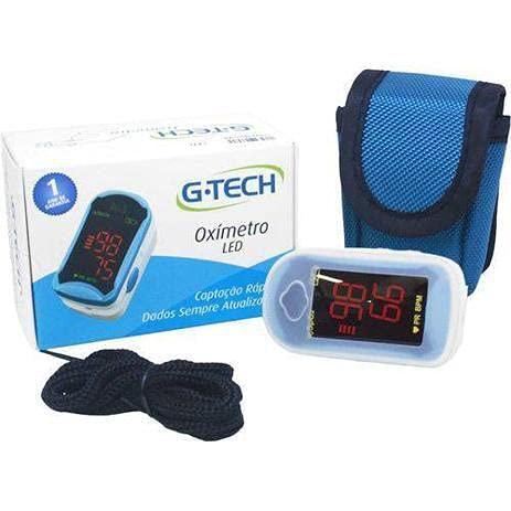 Oxímetro De Dedo Profissional Completo - G-Tech Com Estojo