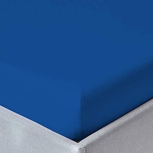 Sabanalia - Bajera Ajustable Combina (Disponible en Varios tamaños y Colores), Cama 150 - 150 x 200, Azul