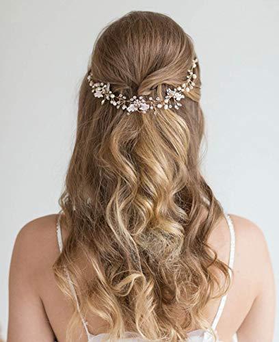 Unicra Haarkamm, mit Kristallen, Haarschmuck, für Braut, Hochzeit, Blume, Haarteile für Frauen und Mädchen