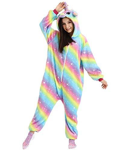 DRESHOW Unicornio Pijamas de un Pieza para Niños Niñas, Unicornio Pijama Ropa de Dormir Invierno...