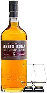 Auchentoshan 12 Jahre Single Malt Whisky 0,7 Liter  2 Glencairn Gläser