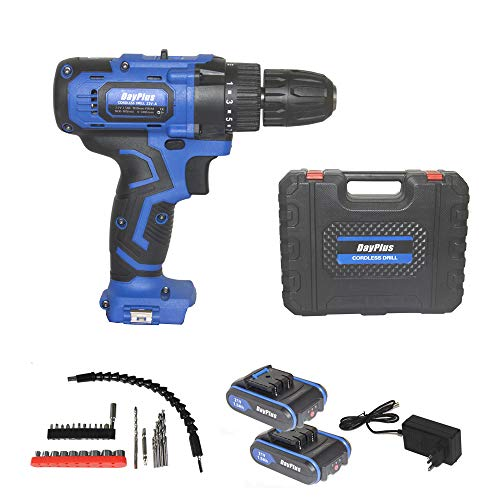Drill Combo Kit, 21V Impact Driver, 450ln-lbs Cordless Drill, 90 Min Fast Charging, 2x1.5Ah Batteries, LED Work Light, 29PCS Accessories, for Drilling Wood, Metal and Plastic
