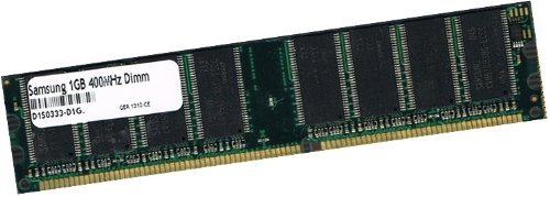 Samsung original 1 GB 184 pin DDR-400 (400Mhz PC-3200 CL3) DIMM 64Mx8x16 Double Side für PC's - 100% kompatibel zu 333Mhz PC-2700 / 266Mhz PC-2100