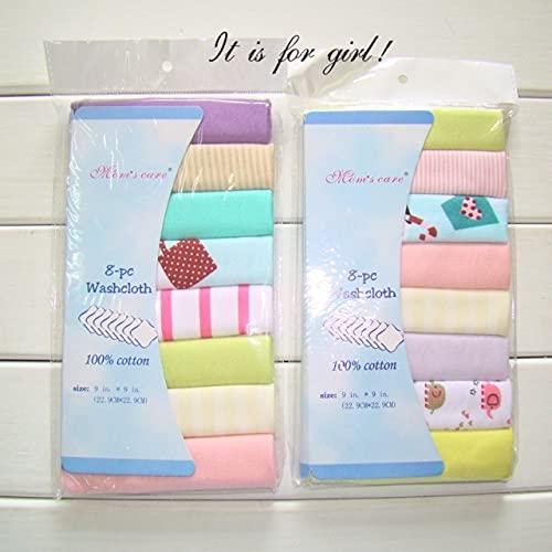 FISISZ Toallas de algodón para bebés recién Nacidos Toalla de Saliva Toalla de Lactancia Bebé Niños Niñas Bebe Toalla Pañuelo Toallitas de tela-1Paquete para niñas