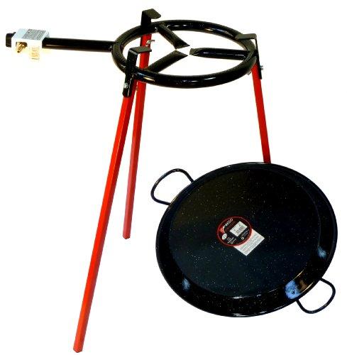 Batería de cocina Paella - 300 mm sola hornilla con 42 cm esmaltados paellera