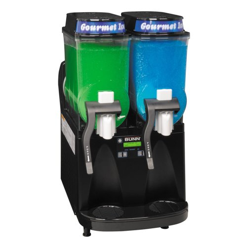 Bunn Ultra-2 Liquid Autofill Slushy / Granita Frozen Drink Machine with 2 Hoppers - Black 120V (Bunn