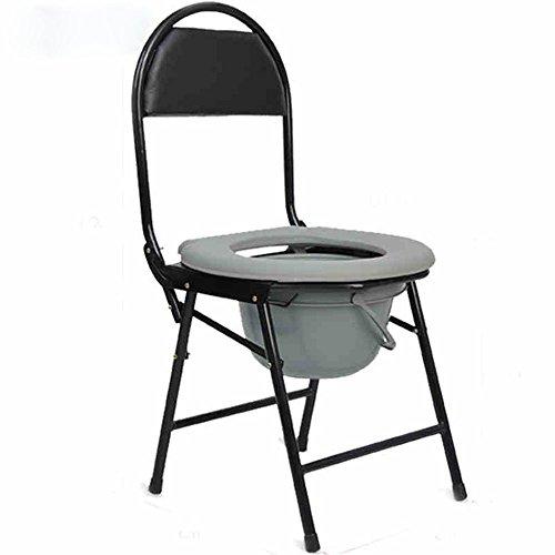 ZHANGRONG- Commode Personnes Âgées Toilettes Chaise Pliantes Bol De Toilette En Acier Inoxydable Seniors Chaise De Bain Femme Enceinte