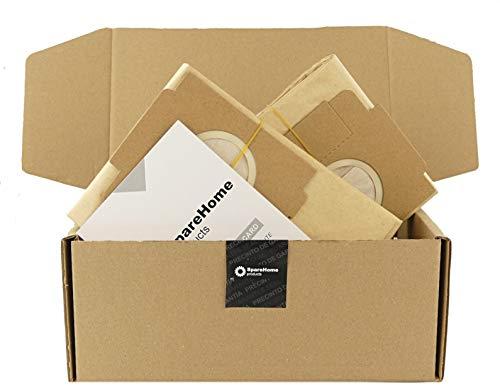 ReleMat 10 Bolsas SpareHome de Alto Rendimiento compatibles con Aspirador Moulinex Powerclean