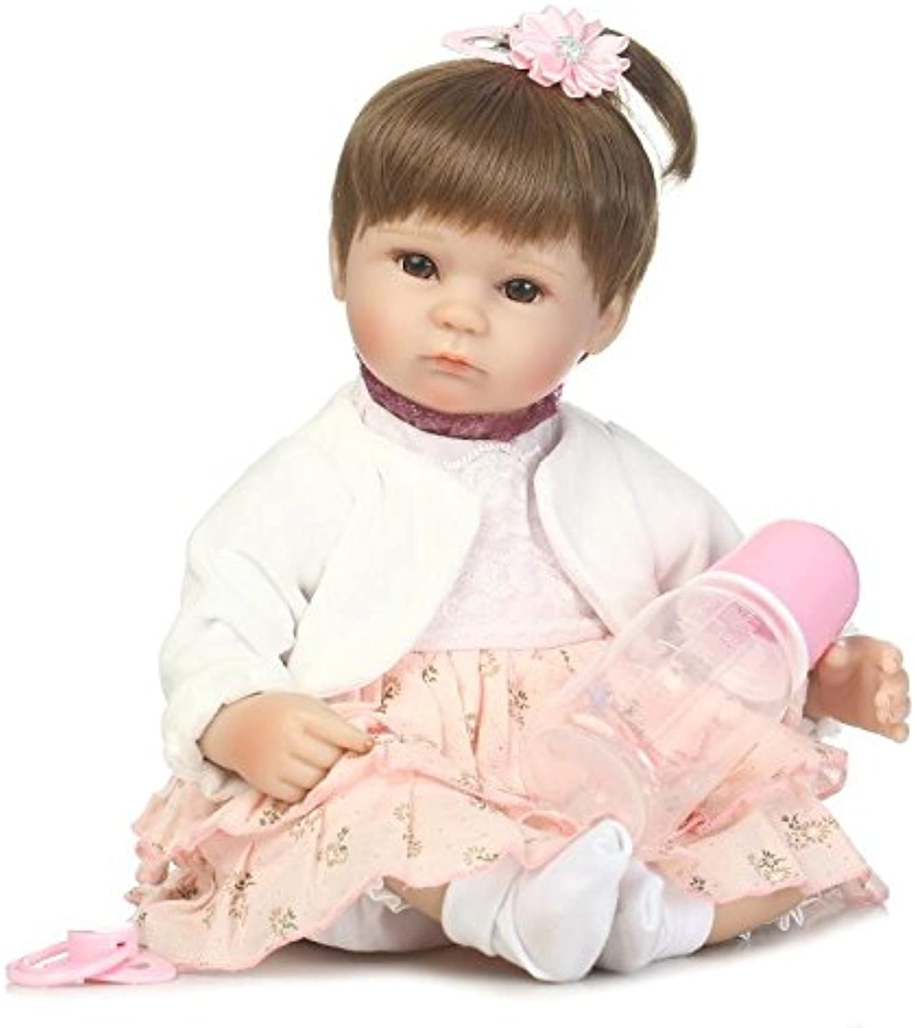 NPK Collection Real Handmade Playhouse Doll Toys Gentle Touch Soft Body 18inch 40cm Silicone Girl Reborn Baby Dolls Newborn Babies Birthday Gift