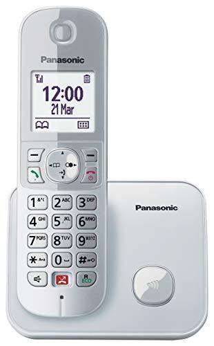 Panasonic KX-TG6851 - Teléfono Fijo Inalámbrico Digital (Bloqueo de Llamadas, Manos Libres, Modo No Molestar, Reducción de Ruido Ambiente, Distintos Tonos de Llamada, Agenda), Plata