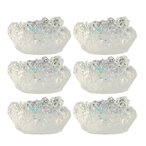ARTIBETTER 10 Pcs Fazer Jóias Pingente de Gemstone Encantos de Cristal de Resina para Diy Hairband Colar Pulseira Suprimentos (Branco)