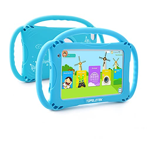 Kids Tablet 7inch Android Toddler Tablet 32GB Tablet for Kids APP Preinstalled & Parent Control Kids Learning Education Tablet WiFi Camera Kid-Proof Case with Handle,Netflix YouTube Ages 3-14