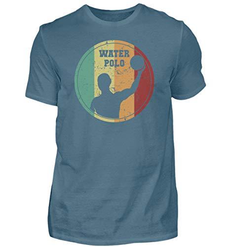 Wasserball Spieler Retro T-Shirt | Wasserpolo Tor Ball Vintage Herren Shirt