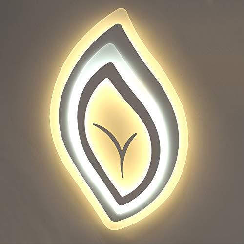 YesVCTR Creativo Moderno de la lámpara de LED Grande en Forma de Hoja Transparente de la lámpara de Techo Regulable Herramienta Cubierta iluminación con Control Remoto Lámpara de Techo