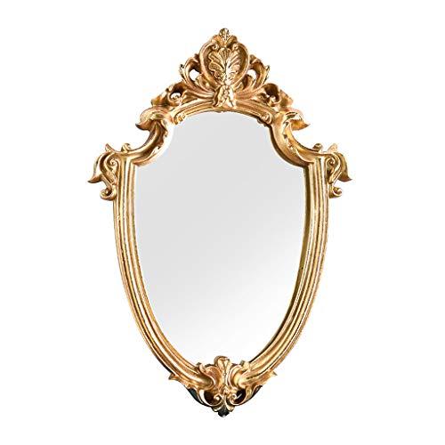 Fenteer Espejo Ovalado Estilo Barroco Espejos Decorativos para Pared de Oro, decoración...