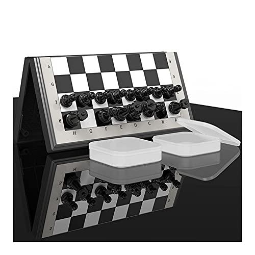 Ajedrez Juego de Ajedrez Magnético Viaje Plegable a Prueba de Agua Juegos de Mesa con Caja de Almacenamiento Regalos Portátiles for Niños Adultos Principiantes Juego de Ajedrez ( tamaño : 37*37cm )