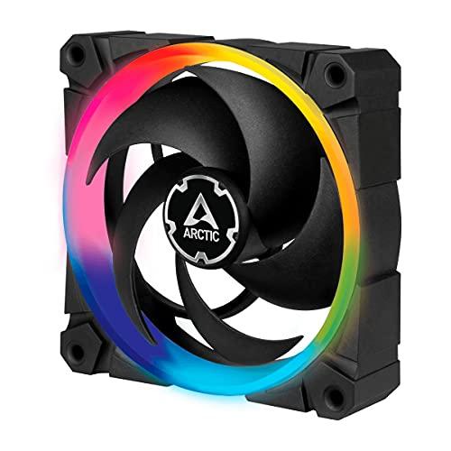 ARCTIC BioniX P120 A-RGB - 120 mm Ventola da Gioco a Pressione Statica con A-RGB, PWM, Dissipatore, Cuscinetto Dinamico Fluido, 400-2300 RPM - Nero