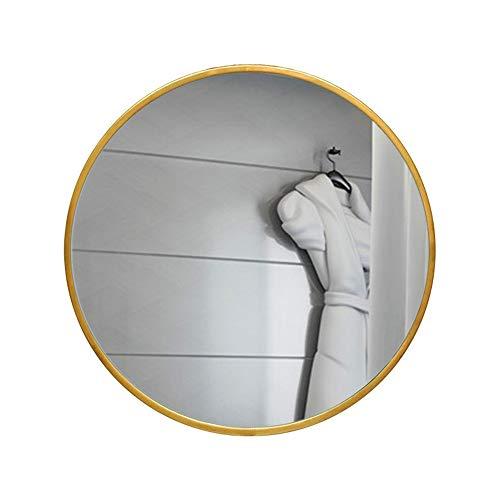 Zfggd Miroir Rond de Salle de Bains avec la frontière Tenture Murale de Toilette Miroir de Maquillage de vanité (Size : 50cm)