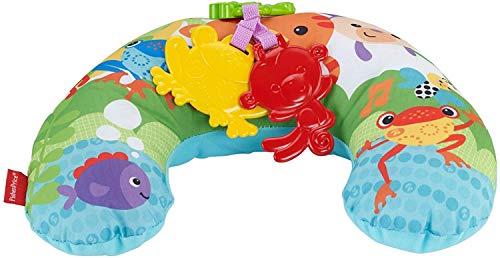 Fisher-Price Coussin de la Jungle, jeu sur le ventre et assis, musique et vibrations apaisantes pour bébé, dès la naissance, CDR52