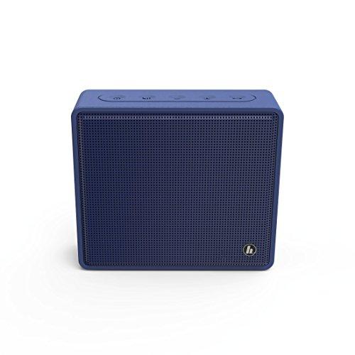 Hama Tragbarer Bluetooth Lautsprecher mit Micro-SD-Kartenslot (kabellose Box zur Musik-Wiedergabe über Smartphone/Tablet, MP3-Wiedergabe, Freisprechfunktion, AUX) Mobile Speaker Box blau